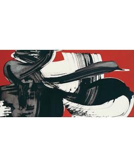 nino mustica cuadro mural grande abstracto rojo