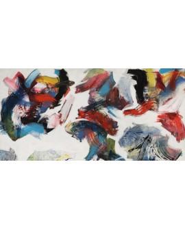 nino mustica cuadro grande abstracto pensamientos Cuadros Horizontales