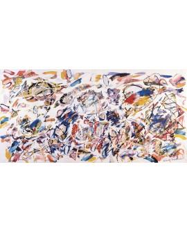 nino mustica cuadro grande abstracto aire de colores 1993 Cuadros Horizontales