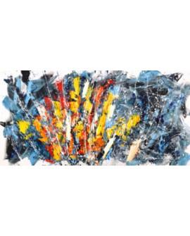 bob ferri cuadro mural gran abstracto sol naciente Cuadros Horizontales