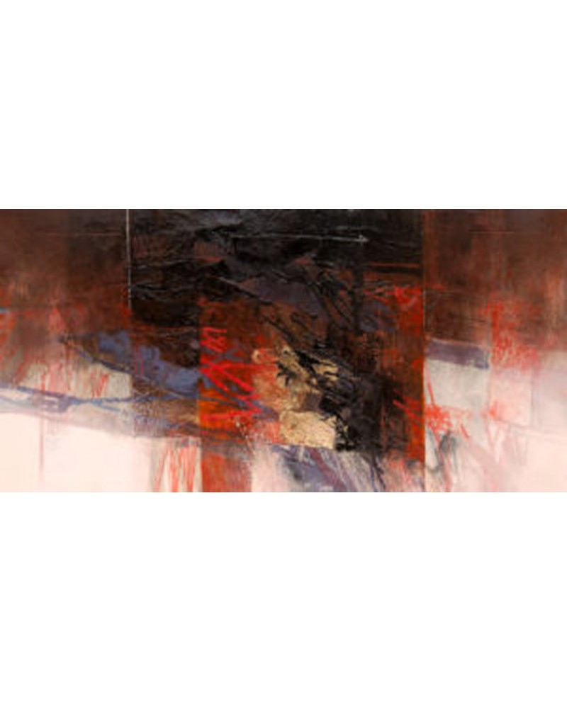 Censini la niebla densa cuadro mural grande abstracto for Cuadros horizontales modernos