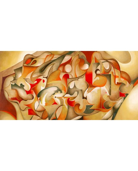 laura ceccarelli cuadro mural abstracto verano Cuadros Horizontales