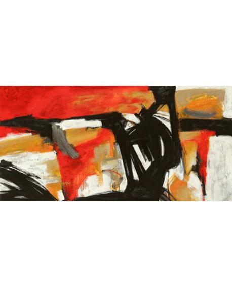 jim stone cuadro mural grande abstracto fuego naranja Cuadros Horizontales