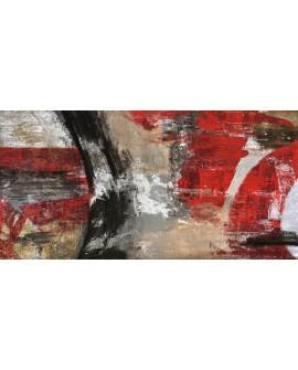 jim stone tornado rojo cuadro mural abstracto Cuadros Horizontales