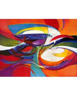 Bora Bora - cuadro abstracto moderno colores vivos