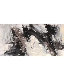lucas cuadro mural grande abstracto blanco y negro Cuadros Horizontales