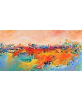tebo marzari cuadro mural ciudad de las colinas Cuadros Horizontales