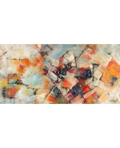 tebo marzari cuadro mural abstracto distritos de rio Cuadros Horizontales