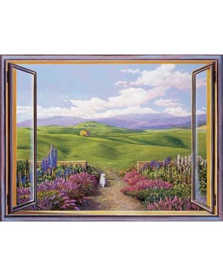 andrea del missier cuadro trampantojo paisaje toscana Cuadros Horizontales