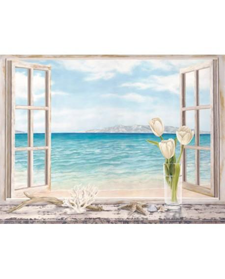 remy dellal cuadro mural trampantojo ventana al mar Cuadros Horizontales