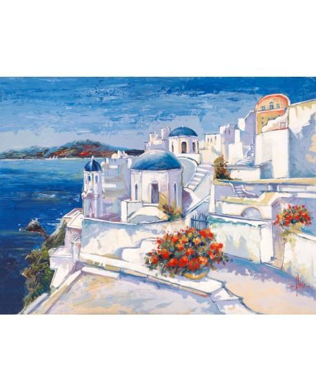 luigi florio cuadro isla mykonos grecia mediterraneo Cuadros Horizontales