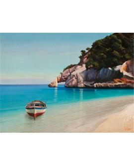 adriano galasso cuadro mural paisaje bahia mediterranea Cuadros Horizontales