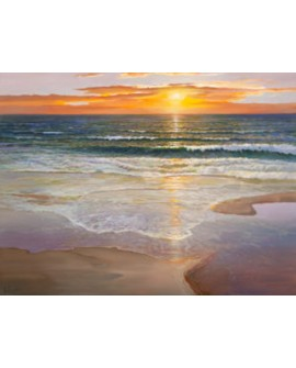 adriano galasso cuadro mural paisaje el alba sobre playa Cuadros Horizontales