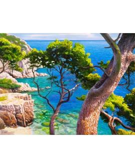 adriano galasso cuadro mural paisaje islas baleares Cuadros Horizontales