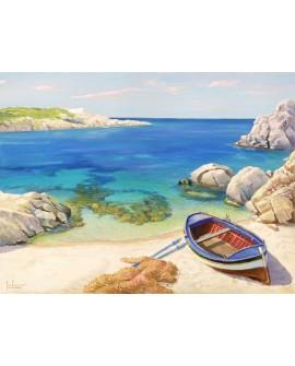 adriano galasso cuadro mural paisaje playa cerdeña Cuadros Horizontales