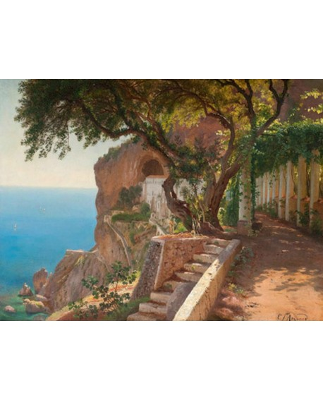 carl frederic cuadro mural paisaje clasico mediterraneo Cuadros Horizontales