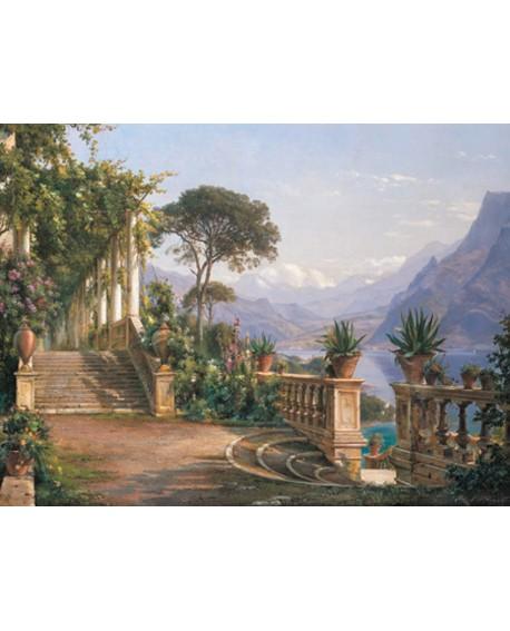 carl frederic cuadro mural paisaje clasico mirador Cuadros Horizontales