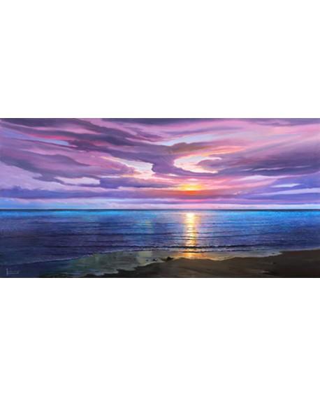 adriano galasso cuadro mural paisaje amanecer sobre mar Cuadros Horizontales