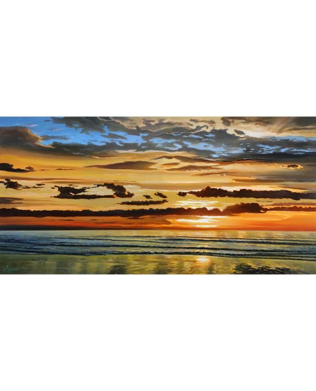 adriano galasso cuadro mural paisaje atardecer sobre mar Cuadros Horizontales