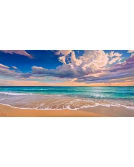 adriano galasso cuadro mural paisaje orilla de oceano