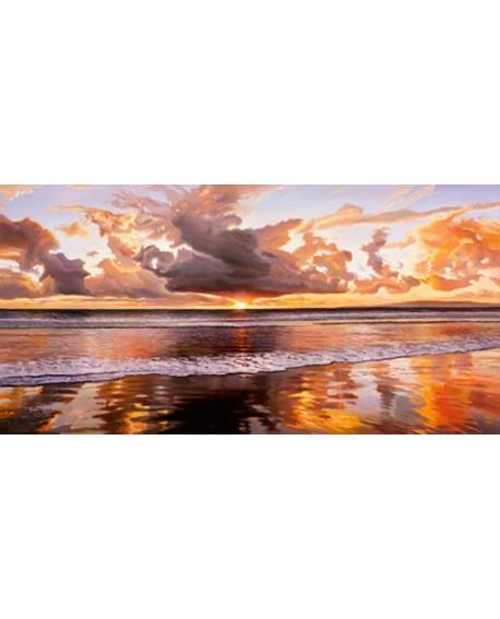 adriano galasso cuadro mural paisaje rojo maritimo Cuadros Horizontales