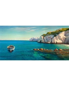 adriano galasso cuadro mural paisaje cala mediterranea Cuadros Horizontales