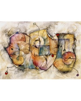 Eric Waugh Bravo - cuadro abstracto moderno mural en tablero