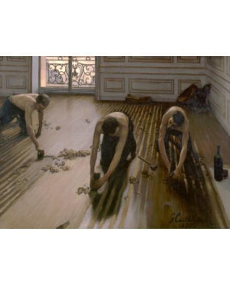 gustave caillebotte trabajadores del suelo mural Home