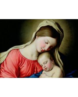 sassoferrato cuadro mural renacimiento la virgen y el niño Home