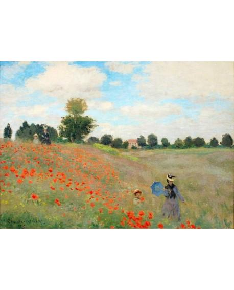 monet cuadro impresionista paisaje campo amapolas Home