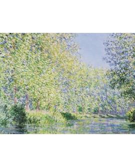 monet cuadro impresionista paisaje jardin en el rio giverny