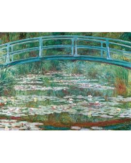 claude monet cuadro mural impresionista puente en el lago Home