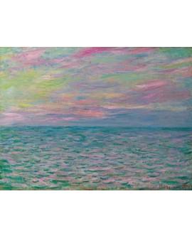 monet cuadro impresionista puesta de sol sobre mar Home