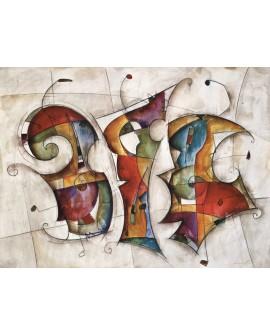 Eric Waugh Dance - cuadro abstracto moderno mural en tablero