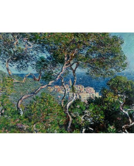 monet cuadro impresionista paisaje pueblo italiano Home