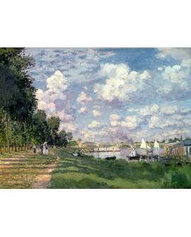 monet cuadro impresionista paisaje marina de argenteuil