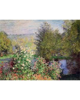 monet cuadro impresionista paisaje jardin frondoso Home