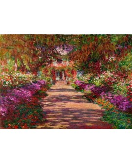 monet cuadro impresionista paisaje jardin en primavera Home