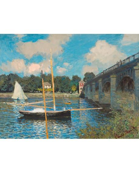 monet cuadro impresionista paisaje con puente y barco 2 Home