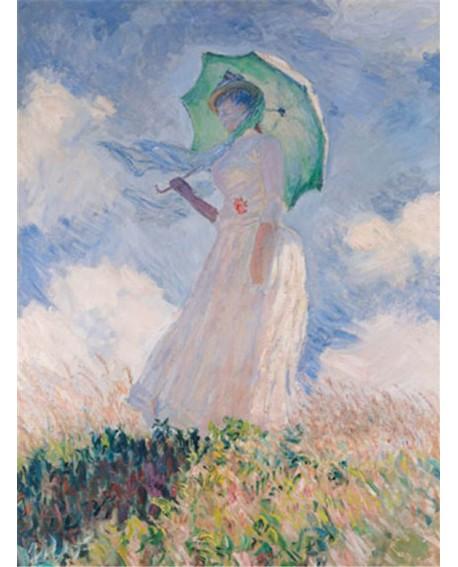 monet cuadro impresionista mujer con parasol Home