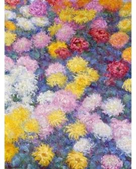 monet cuadro impresionista paisaje flores de crisantemos Home