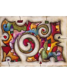 Eric Waugh Quadra - cuadro abstracto moderno mural en tablero