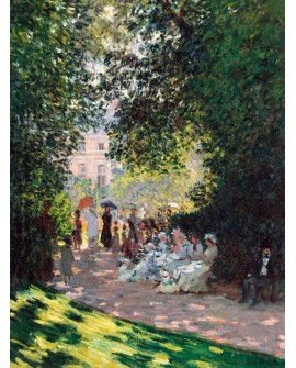 monet cuadro impresionista paisaje parque monceau