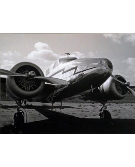 Fotografia clasica blanco y negro cuadro aereoplano Home