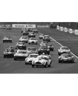 Fotografia clasica blanco y negro coches carreta GT