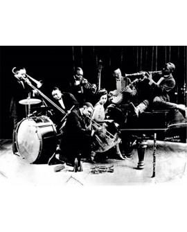 Fotografia clasica blanco y negro banda de jazz 1920s Home
