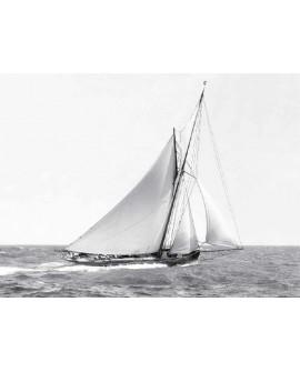 Fotografia clasica blanco y negro velero EN oceano 1910 Home