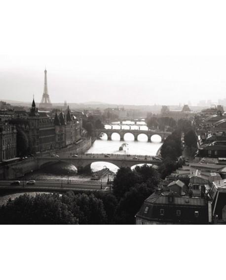 Fotografia clasica cuadro vista de paris rio sena 2 Home