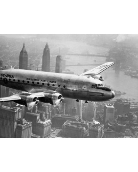 Fotografia vintage cuadro avion vista manhattan nyc Home