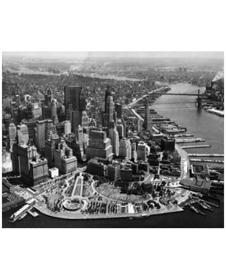 Fotografia clasica cuadro vista aerea de manhattan Home